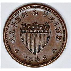 1863 CIVIL WAR TOKEN STORE CARD TOKEN 62 BN