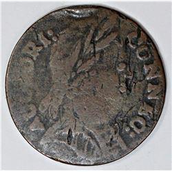1785 CONNECTICUT CENT M3. 1-L RARITY 4+