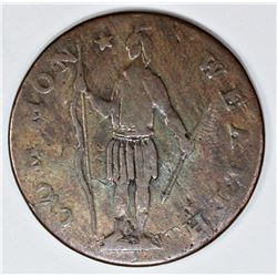 OLD COLLECTION 1788 MASS CENT RYDER 3A RARITY 4
