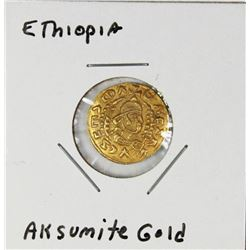 VERY RARE ETHIOPIA GOLD COIN 400 A.D