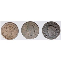 TRIO OF EARLY LARGE CENTS