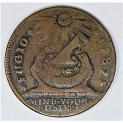 1787 FUGIO CENT. NEWMAN 7T. RARITY 4