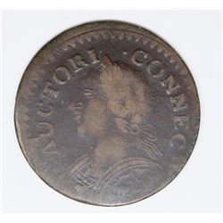 1787 CONN. CENT POPULAR LAUGHING HEAD VAR