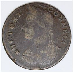 1787 CONN. CENT M-17 G3 RARITY 4