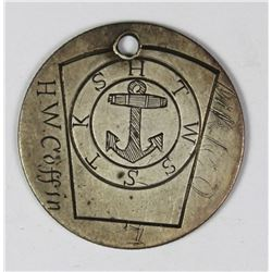 MARITIME ANCHOR DESIGN LOVE TOKEN ON BARBER .25