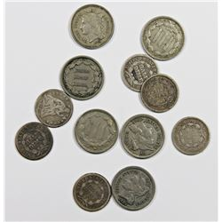 LOT OF 12 OBSOLETE COINS