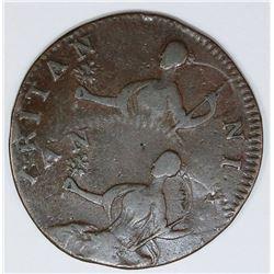 STUNNING OFF CENTER ERROR 1770'S ENGLAND 1/2 PENNY