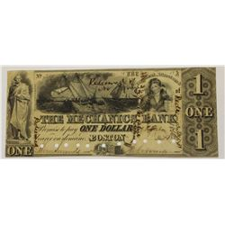 VERY RARE 1852 THE MECHANICS BANK $1.00