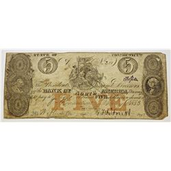1853 BANK OF NORTH AMERICA $5.00