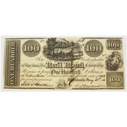 1838 $100 SUSQUEHANNA RAILROAD CO.