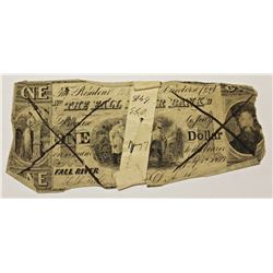 1850 $1.00 THE FALL RIVER BANK