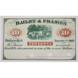 OBSOLETE 1863 TEN CENT SCRIP