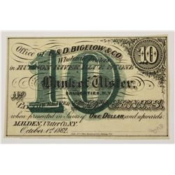 CIVIL WAR TEN CENT OBSOLETE SCRIP