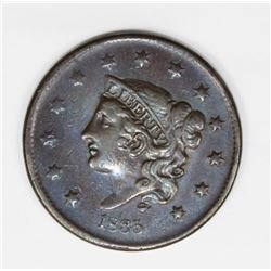 1835 LARGE CENT CHOCO BROWN AU 50/55