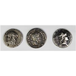 3 VARIOUS UNATRIB. ROMAN SILVER ANCIENTS