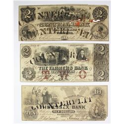 (3) 1850'S COUNTERFEIT OBSOLETE NOTES