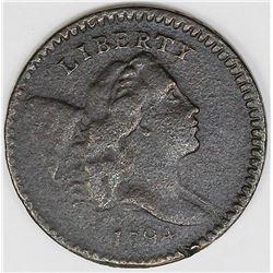 1794 HALF CENT COHEN 9 SMALL EDGE LETTERS