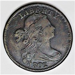 HIGH GRADE 1802 DRAPED BUST LARGE CENT