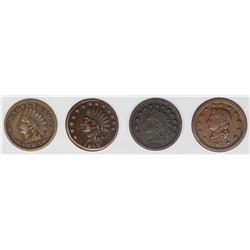 4 DIFFERENT 1860'S CIVIL WAR MERCHANT TOKENS