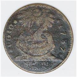 SCARCE 1787 FUGIO CENT KESSLER 19-Z