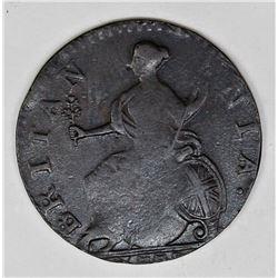1775 ENGLAND HALF PENNY BROCKAGE ERROR