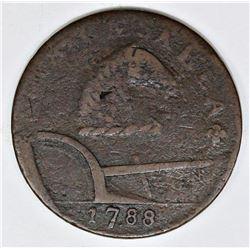 1787 NJ CENT RUNNING FOX VARIETY