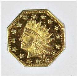 1857 .50 CALIFORNIA TERRITORIAL GOLD TOKEN