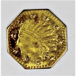 1855 CALIFORNIA TERRITORIAL GOLD TOKEN