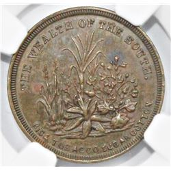 1860 CIVIL WAR TOKEN NGC MS 61