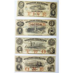 SET OF 4 WESTERN EXCHANGE