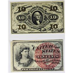 PAIR OF TEN CENT