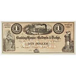 1850'S $1 LOCOMOTIVE IOWA