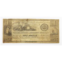 1837 $1 FARMERS AND MECHANICS BANK MASS.