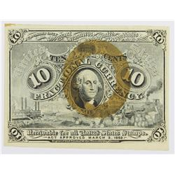 10 CENTS FRACTIONAL CURRENCY F1244