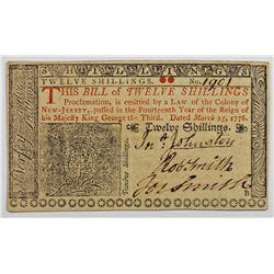 1776 12 SHILLINGS