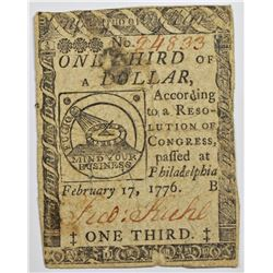 1776 ONE THIRD OF DOLLAR