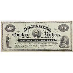 1870'S DR. FLINTS QUAKER BITTERS