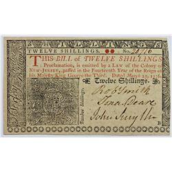 3-25-1776 NEW JERSEY 12 SHILLINGS