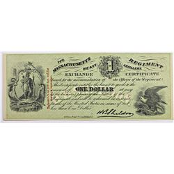 VERY RARE CIVIL WAR $1 SUTLER SCRIP