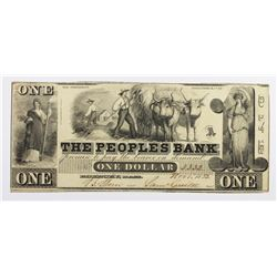 VERY RARE 1852 PEOPLE'S BANK