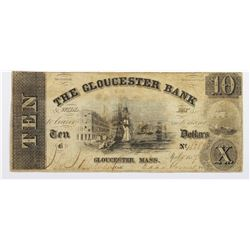 1857 $10 BANK OF GLOUCESTER