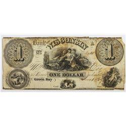 1839 $1 BANK OF WISCONSIN