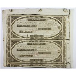 2 PIECE CUT SHEET $1.00 NOTES