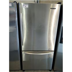 KITCHENAID STAINLESS STEEL FRIDGE WITH BOTTOM FREEZER (MODEL KBRA22KLSS01)