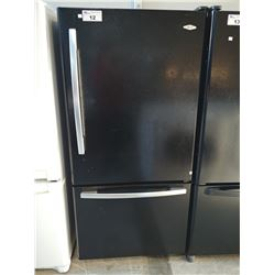 MAYTAG BLACK FRIDGE WITH BOTTOM FREEZER (MODEL MBF2256KEB)