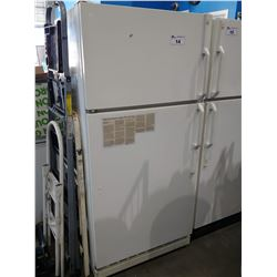 GE WHITE FRIDGE WITH TOP FREEZER (MODEL LW18JZULW-1)