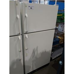 GE WHITE FRIDGE WITH TOP FREEZER (MODEL LW18JZSRW-1)