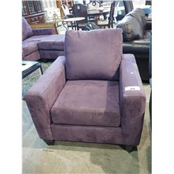 PURPLE FABRIC ARMCHAIR