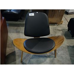 PADDED WOOD ACCENT CHAIR