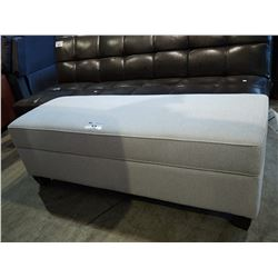 LIGHT GREY STORAGE BENCH